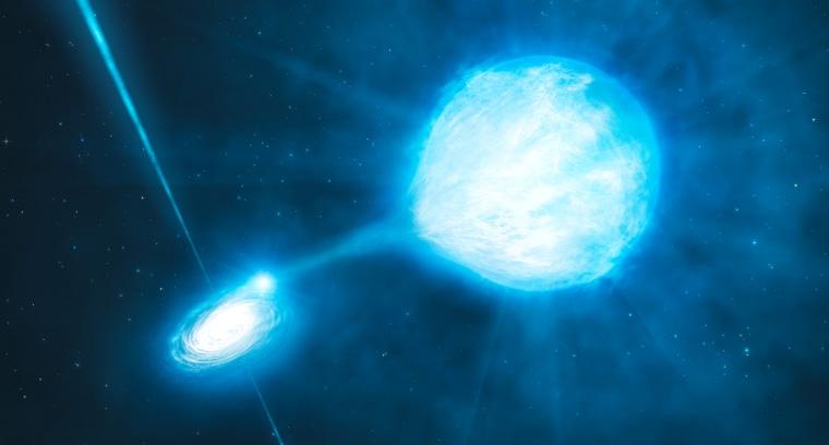 Image: Black hole and companion