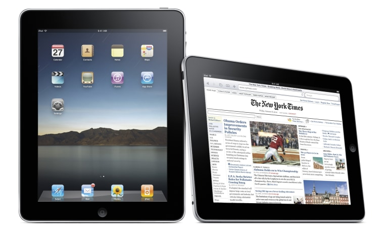 "Image: Publicity photo of the Apple ""iPad"""
