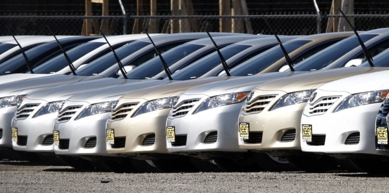 Image: Toyotas withdrawn for sale