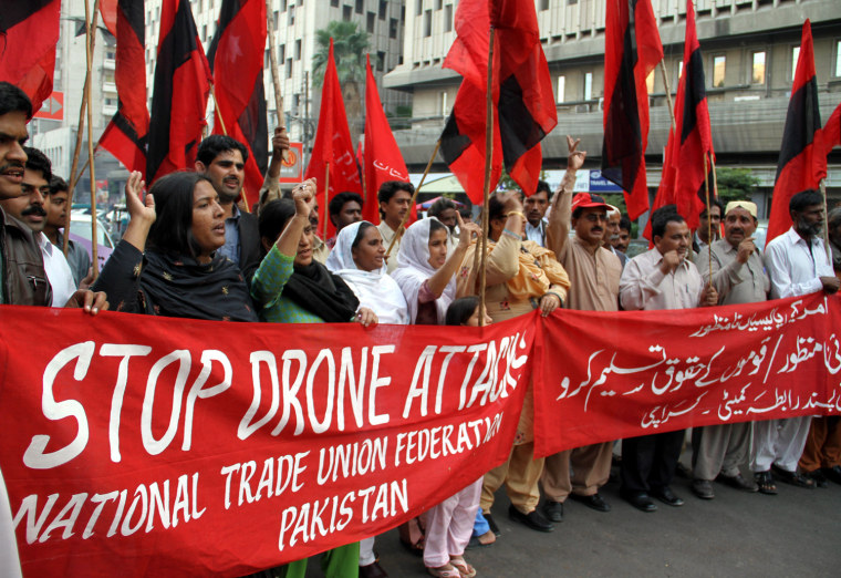 Image: Protest against US drones attack