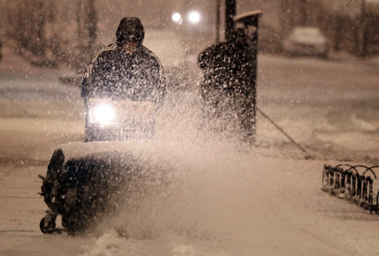 Image: Second Major Snowstorm Of The Season Hits Washington DC