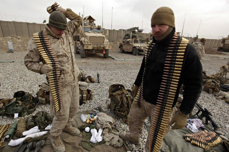 Image: U.S. Marines in Helmand province, Afghanistan