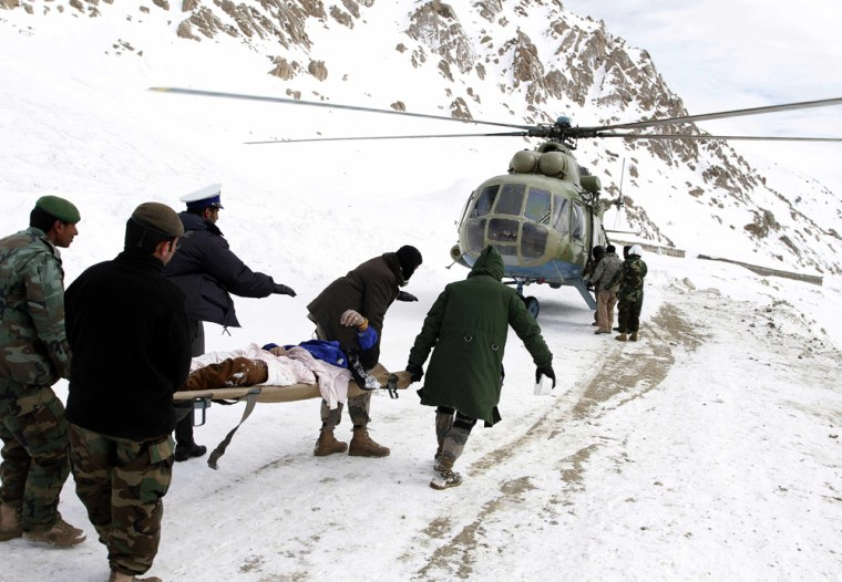 Image: Avalanche victim in Afghanistan
