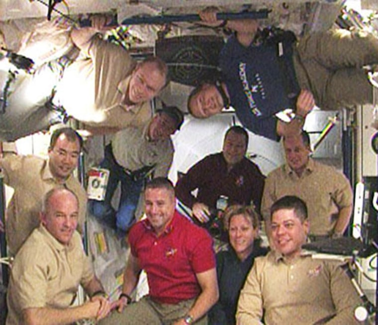 Image: Station and shuttle crews