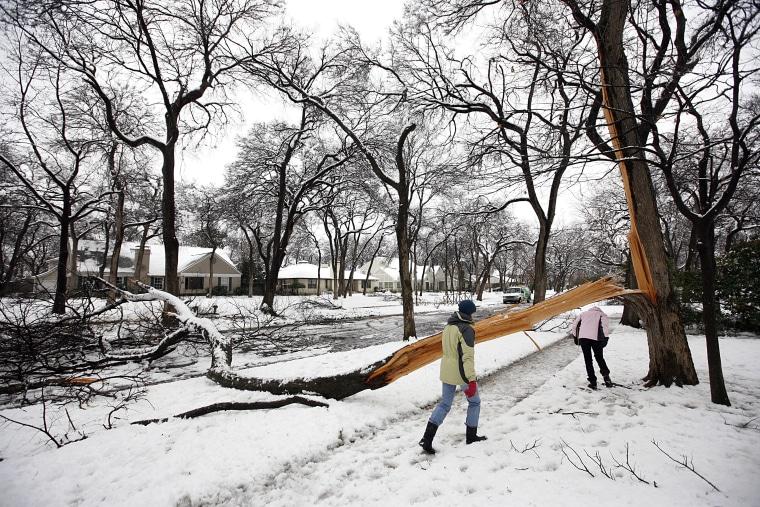 Image: Snow in Dallas