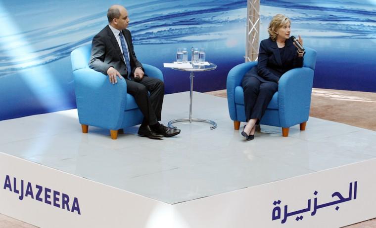Image: Secretary of State Hillary Clinton in Doha