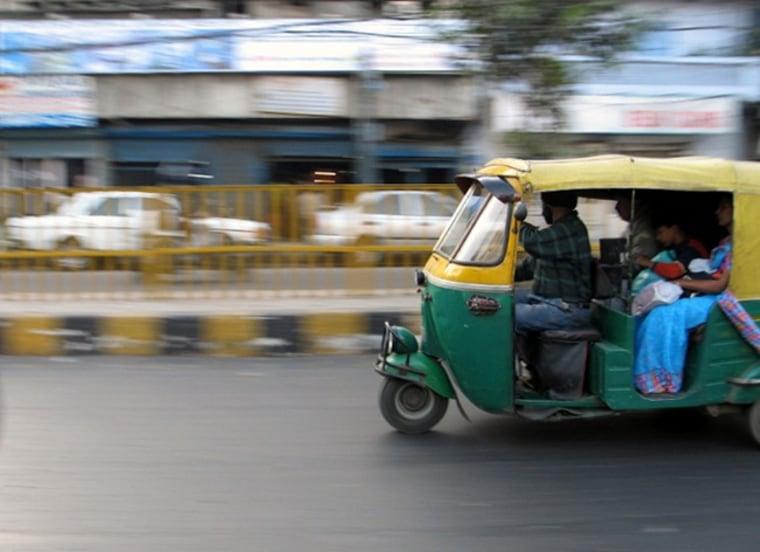 Image: Taxis in Delhi