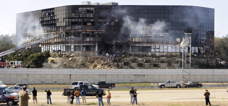 Image: Austin man flies plane into IRS building.