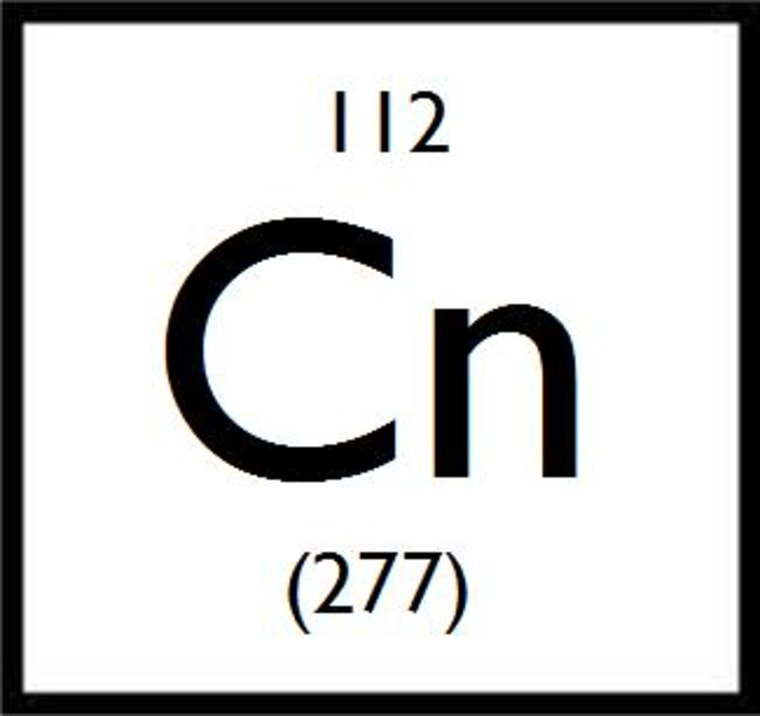 Copernicium is the heaviest known element on the periodic table, with 112 protons in its nucleus and an atomic mass 277 times heavier than hydrogen.