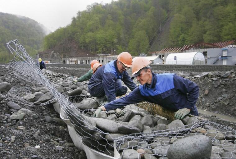 Image: construction in Sochi, Russia