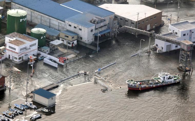 Image: Flooding in northen Japan