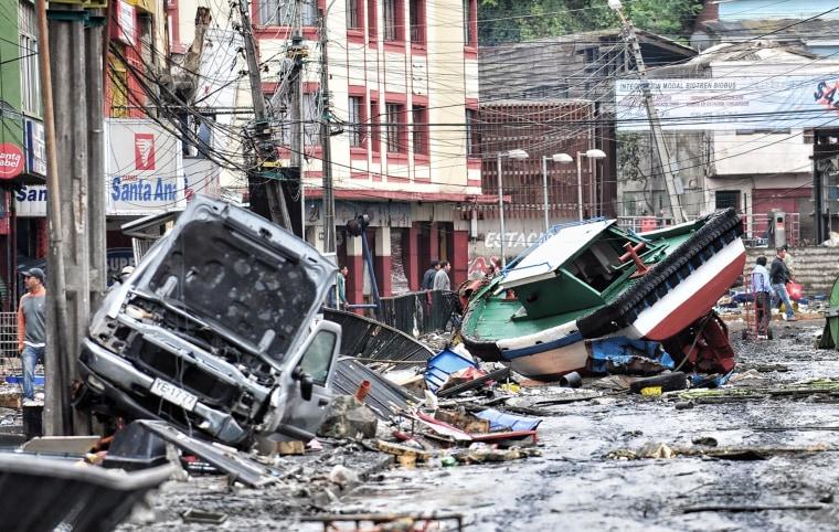 Image: Talcahuano, Chile, after a tsunami