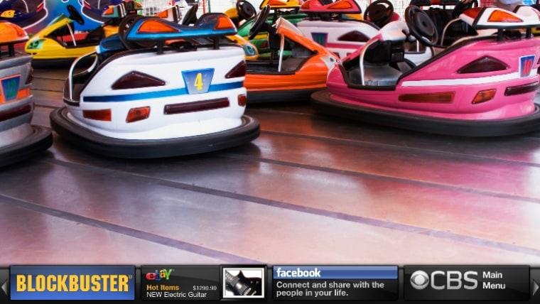 Image: TV screen with Yahoo Widgets