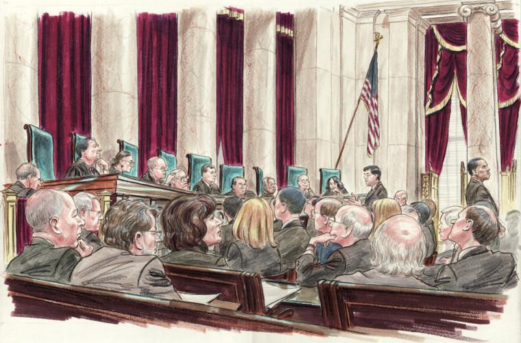 Image: The U.S.Supreme Court hears arguments in McDonald v. Chicago.