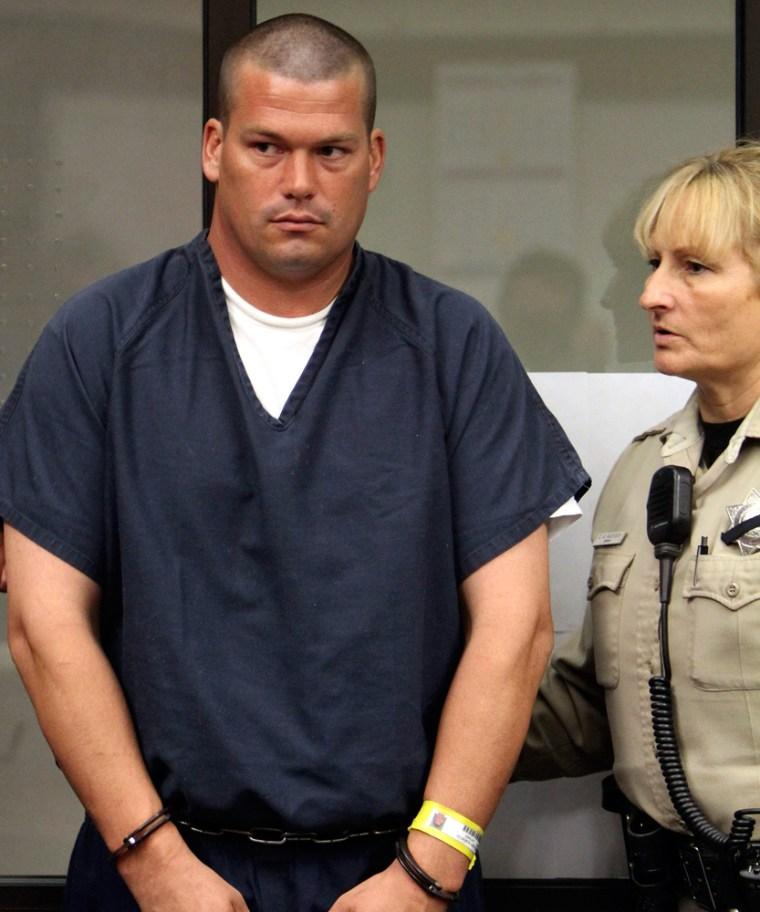 Image: John Albert Gardner III attends his arraignment