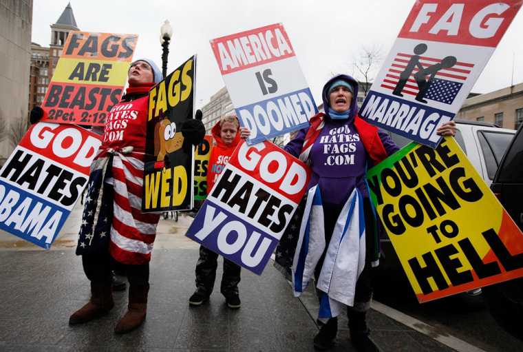 Image: Protesters demonstrate against same-sex marriage