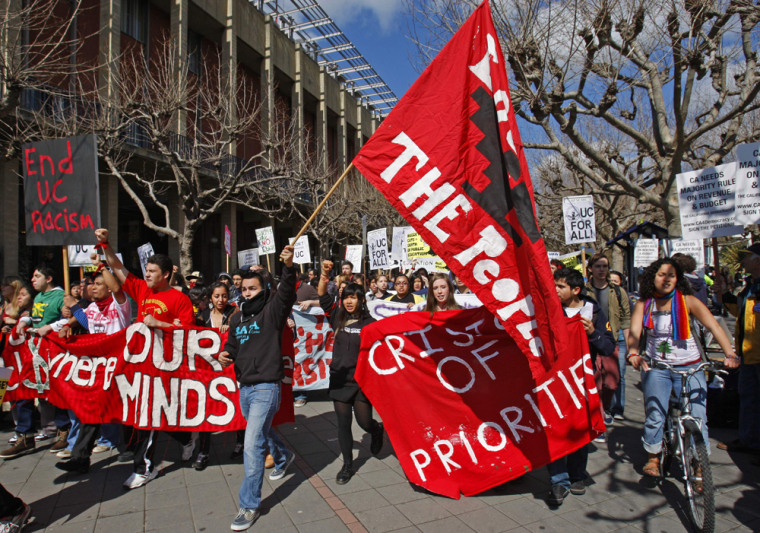 Image: Student Protestors March at Berkekely