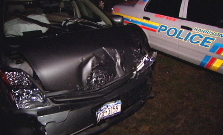 Image: This Toyota Prius went out of control in Harrison, N.Y.