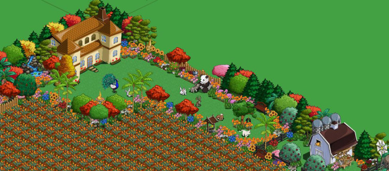 """Cathy Hinz, a 50-year-old mom and grandma from Portland, Ore., spends a lot of time tweaking and beautifying her magnificent virtual homestead on """"FarmVille."""""""