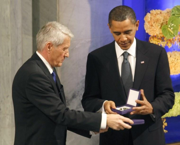 Image: President Obama receives Nobel Peace Prize