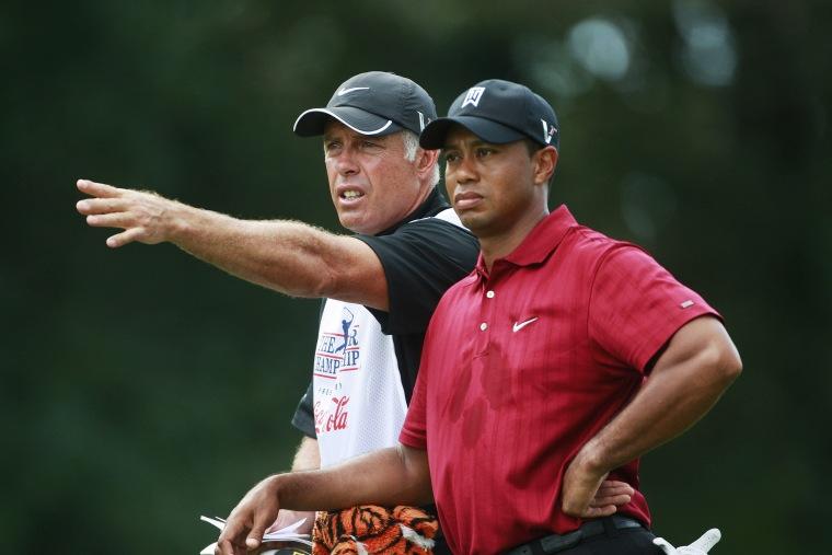 Image: Tiger Woods, Steve Williams