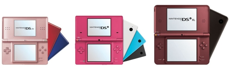The super-sized Nintendo DSi XL (right) launches Sunday. The portable gaming gadget is a larger version of the DSi (middle) with screens 93 percent bigger than the DS Lite (left). But will consumers pay $190 for the DSi XL now that Nintendo promises to launch a new 3-D game device within the next year?