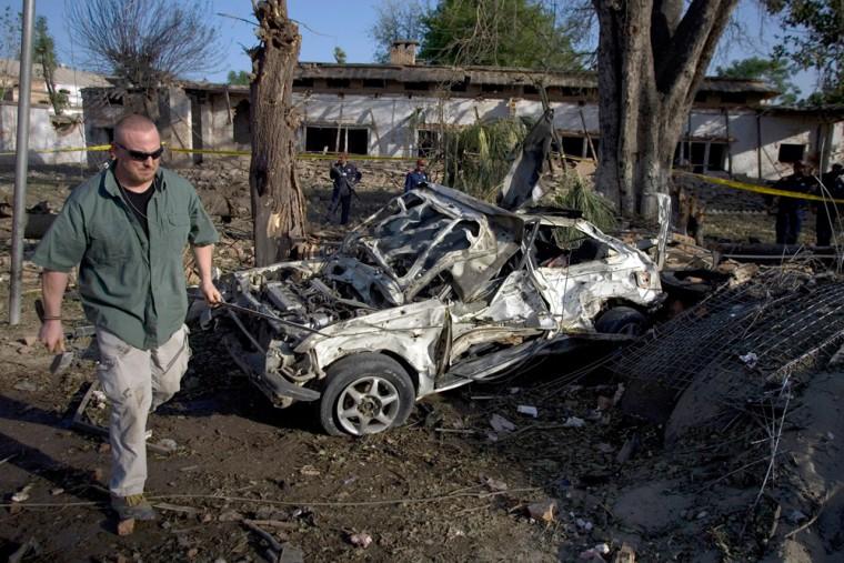 Image: Bombing site near U.S Consulate in Pakistan