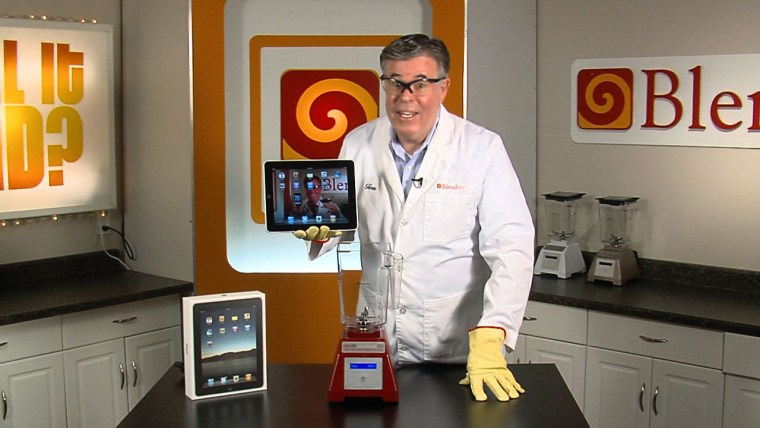 Blendtec founder Tom Dickson lets his commercial-grade blender rip on the latest piece of must-have Apple paraphernalia.