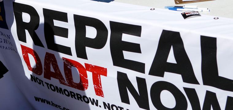 "Image: Washington Rally Calls For Repeal Of ""Don't Ask, Don"