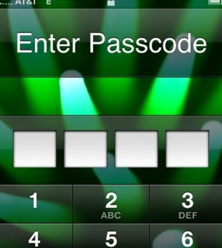 Image: iPhone PIN screen