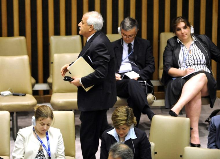 Image: Palestinian Ambassador to the United Nations Riyad Monsour