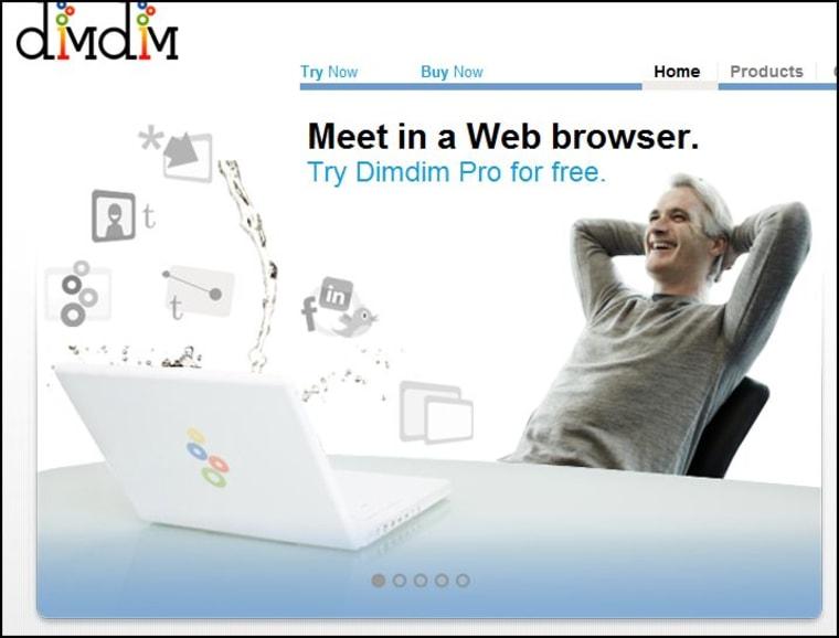Image: Dimdim Web conferencing screenshot