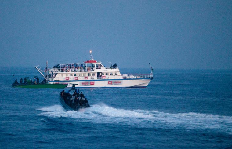 Image: Israeli Navy Intercepts Peace Boats Headed For Gaza.