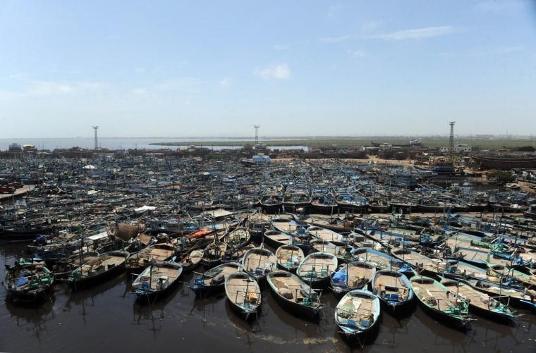 Image: Fishing boats in Karachi