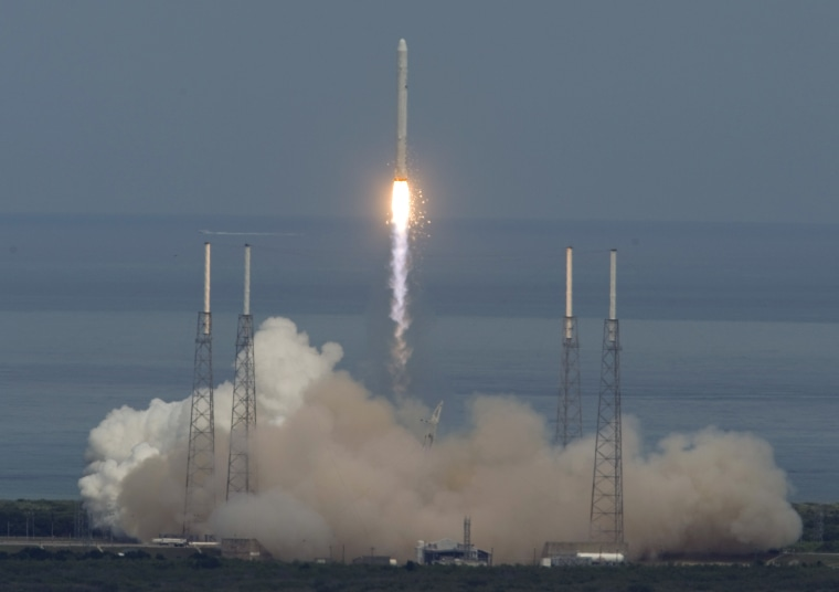 Image: The SpaceX Falcon 9 rocket lifts off on its debut launch from launch complex 40 at the Cape Canaveral Air Force Station in Cape Canaveral, Florida