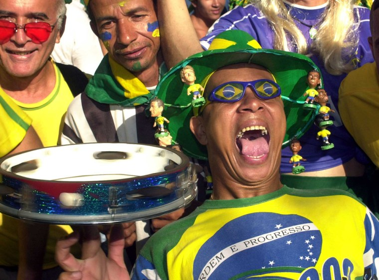 Image: Brazilians Celebrate World Cup Win in Rio