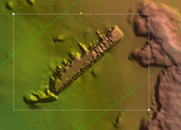 Image: Suspected sunken ship