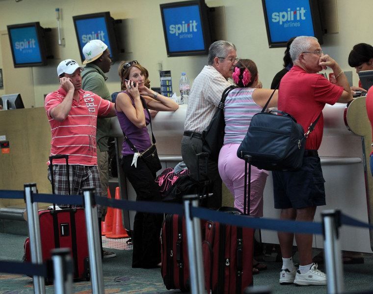 Image: Travelers Stranded As Spirit Airlines Pilots Extend Strike Through Tuesday