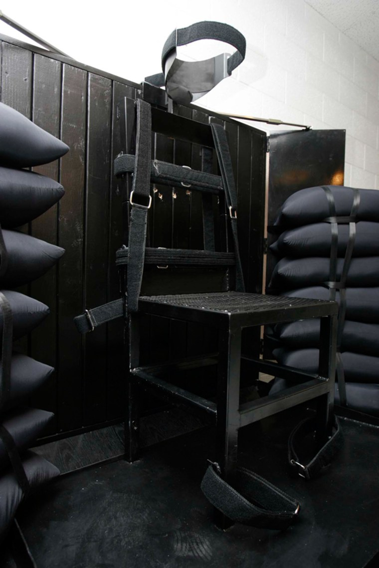 Image:  The execution chamber at the Utah State Prison