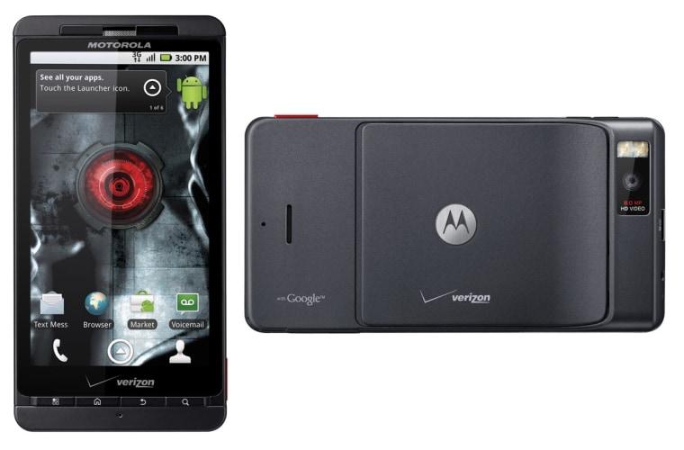 Image: Droid X smartphone from Motorola and Verizon Wireless