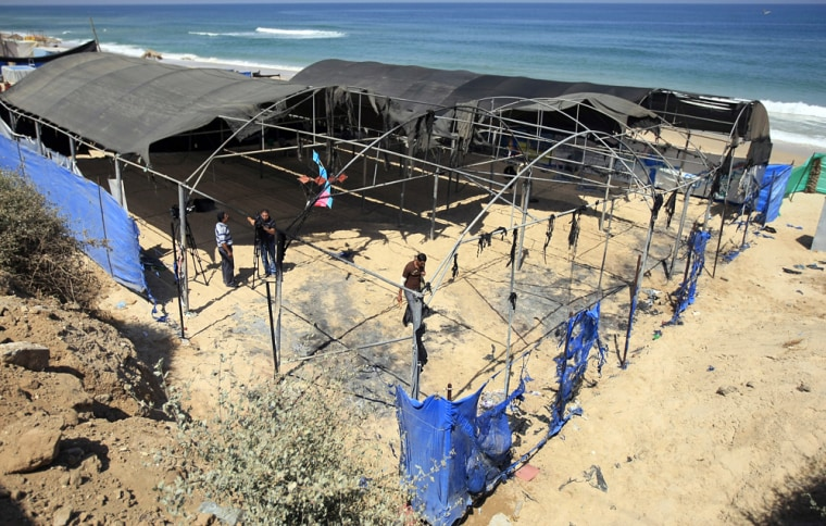 Image: Damaged summer camp in Gaza