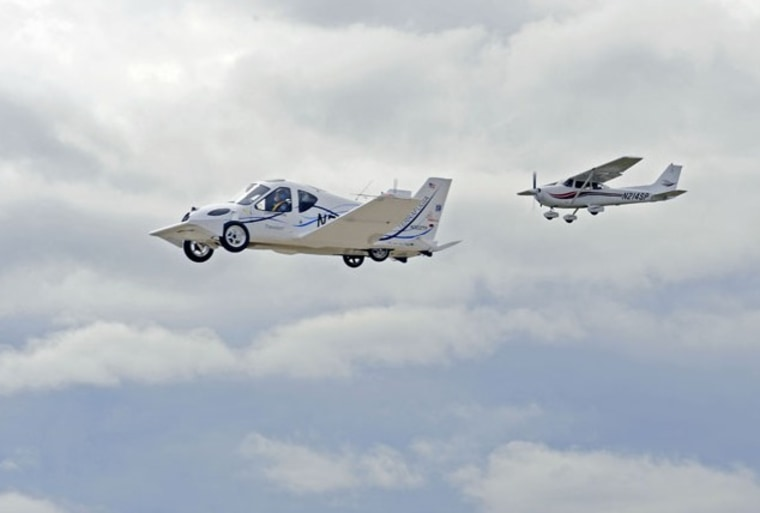 Image: Flying car with chase plane
