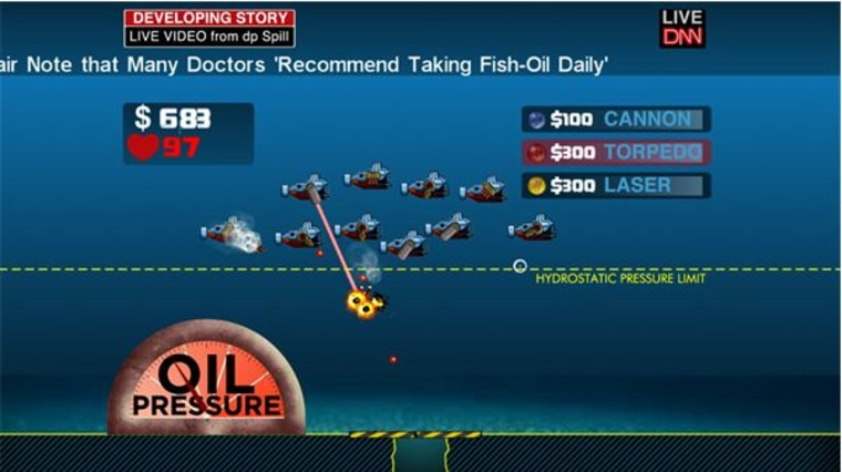 """Dowloadable Xbox 360 game """"Crisis in the Gulf"""" tasks players with stopping the spread of oil in the Gulf."""