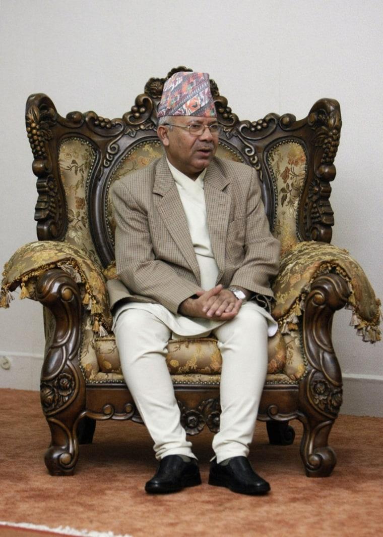 Image: Prime Minister Madhav Kumar Nepal