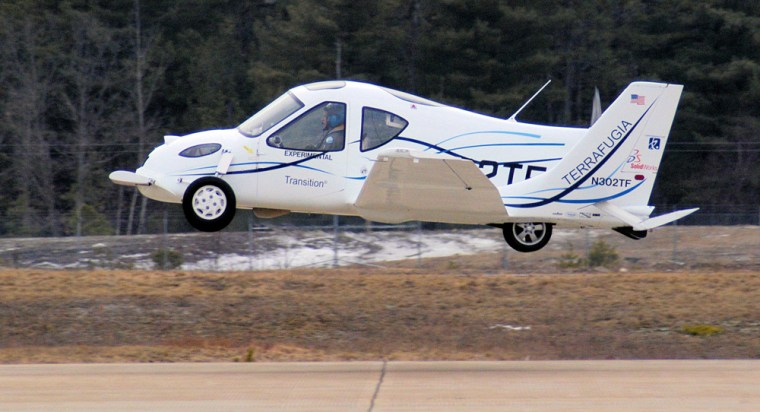 Image: The Terrafugia Transition shortly after a takeoff