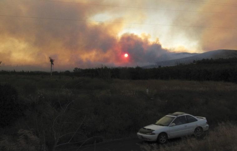 Image: Fire near Yakima