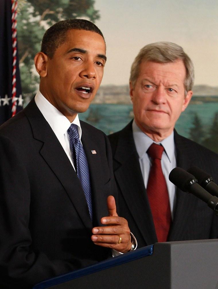 Image: President Obama and Sen. Max Baucus (D-MT)
