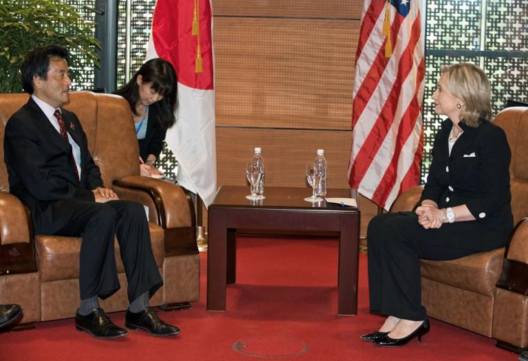 Image: Katsuya Okada, Hillary Clinton