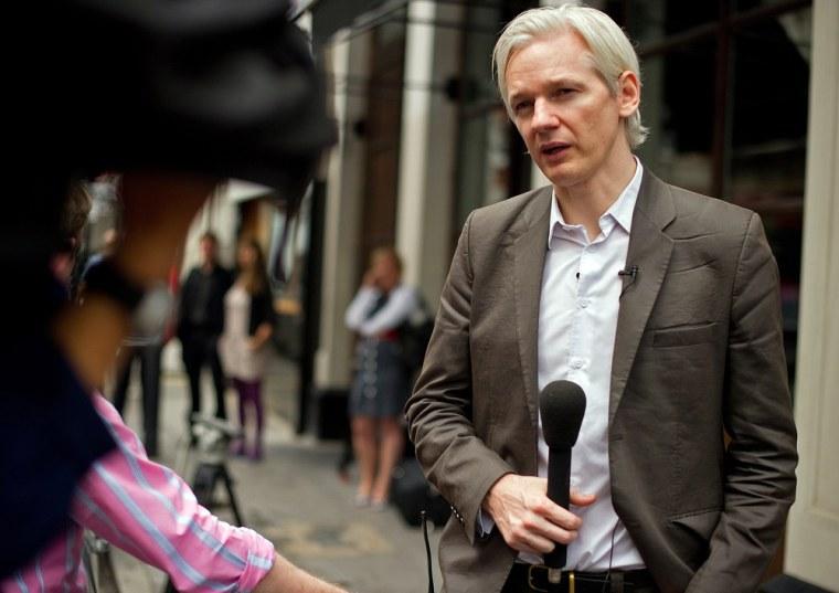 Image: Wikikleaks founder Julian Assange