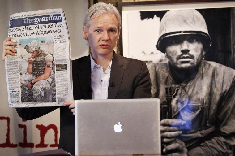 Image: Julian Assange of WikiLeaks
